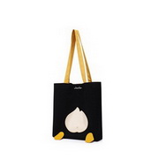 JUST STAR 2020 Cute Duck Cloth Tote Bag Black