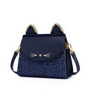 JUST STAR 2020 New Fashion Cute Cat Design Women Shoulder Bag Blue