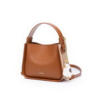 JUST STAR 2021 New Fashion Women Casual Cute Bucket Bag Shoulder Bag Brown