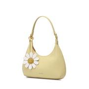 JUST STAR 2021 Spring Design Daisy Casual Moon Bag Tote Bag Yellow