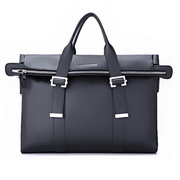 elite series genuine leather double-use bag Black
