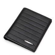 Wholesale High Grade Genuine leather men wallets Black