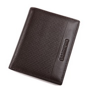 Genuine leather men wallet deep coffee