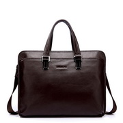 Classic cowhide dual-use briefcase coffee