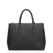 Brave Heart Cow Leather Briefcase Black