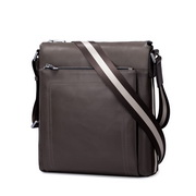SAMMONS vertical and horizontal series business and leisure single shoulder bag Grey