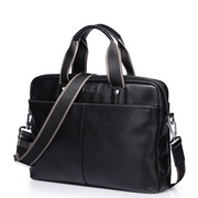 SAMMONS Top Grade Cowhide Shoulder Bag Black