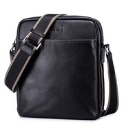 SAMMONS Mmen leather crossbody bag Black