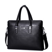 SAMMONS genuine leather men fashion handbag Black