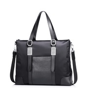 SAMMONS Genuine Leather Large Capacity New Travelling Handbag Black