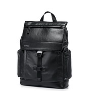 SAMMONS PU Leather&Nylon 2017 New Fashion Backpack Black