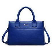 ZHUOLUXUE Genuine Leather 2016 New Brand Big Size Lady Handbag Blue