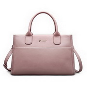 ZHUOLUXUE Genuine Leather 2016 New Brand Big Size Lady Handbag Pink