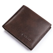Grace series cowhide men wallet Coffee