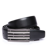 High quality men's leather belt Black