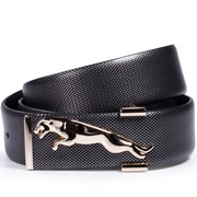 Cheetah series of high-grade diamond stone leather belt Sliver