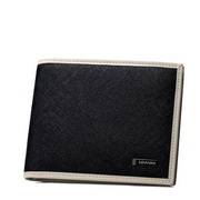SAMMONS 2014 NEW Genuine leather short wallets Black
