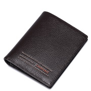 New SAMMONS high quality leather short men wallet Coffee