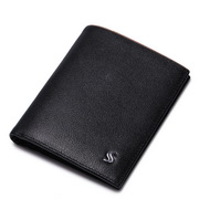 Nietzsche series head layertop layer cowhide short wallet Black