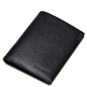 SAMMONS head leather short wallet purse black