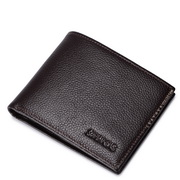 SAMMONS men leather wallet short style Coffee