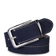 SAMMONS high quality leather belt blue