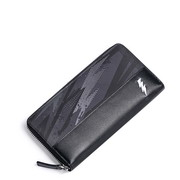 SAMMONS Mixed Leather 2017 New Stylish Simple Style Wallet Black