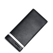 SAMMONS Genuine Leather 2017 New Business Gentleman Long Style Wallet Black