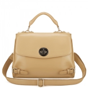 Contrast color two-way bag  Apricot