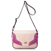 Crocodile line messenger bag Pink