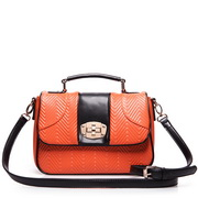 Embossed handbags Orange
