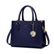 NUCELLE 2020 Classic Design Daisy Decoration Women Shoulder Bag Blue