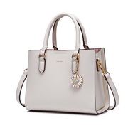 NUCELLE 2020 Classic Design Daisy Decoration Women Shoulder Bag White