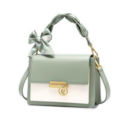 NUCELLE 2021 New Fashionable Romantic Bow Scarf Women Shoulder Bag Green