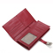 Genuines leather card bag Red