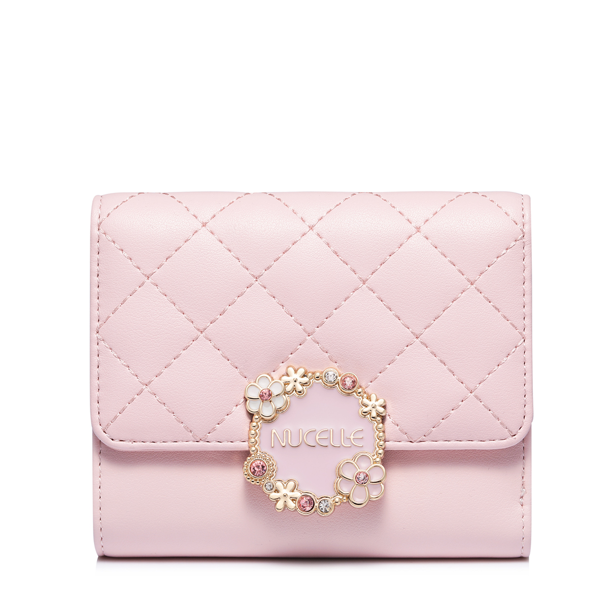 NUCELLE 2018 New Season Elegant Floral Short Wallet Pink