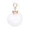 JUST STAR 2019 New Cute Crown Ball Decoration White