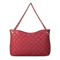 Sheepskin hobos bag Red