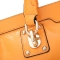 Leather handbag Orange