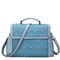 Wholesale genuine leather handbag blue