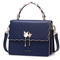 NUCELLE 2017 New Elegant Women Flouncing Handbag Shoulder Bag L Blue