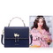 NUCELLE 2017 New Elegant Women Flouncing Handbag Shoulder Bag Blue