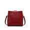 NUCELLE 2020 New Casual Design Modern Women PU Shoulder Bag Red