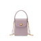 NUCELLE 2021 New Fashion Double Chain  Pearl Chain Women Phone Box Bag Purple