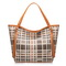 Plaid constrast color shoulder bag Orange