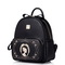 Magic mirror girl series women PU bag Black
