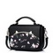 JUST STAR 2019 Spring PU Leather Sweet Handbag Black