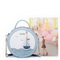 JUST STAR PU 2017 New Hot Selling Sea Sweet Sailing Series Round Bag Blue
