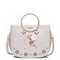 JUST STAR PU Leather 2017 Sweet Hollow Flower Saddle Bag Pearly Light Gold