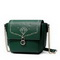 JUST STAR PU Leather 2017 New Korean Style Fashion Shoulder Bag Green